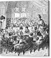 Kindergarten, 1876 Canvas Print