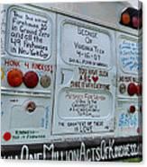 Kindness Bus 3 Canvas Print