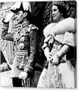 King George Vi, Queen Elizabeth Canvas Print