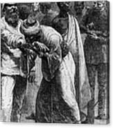 King Riouga And Samuel Baker, 1869 Canvas Print