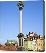 King Sigismund Column In Warsaw Canvas Print