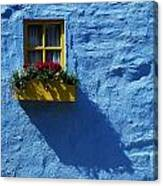 Kinsale, Co Cork, Ireland Cottage Window Canvas Print