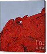 Kissing Camels On Fire Canvas Print