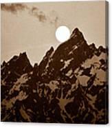 Kissing The Teton Canvas Print