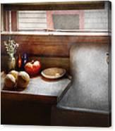 Kitchen - Sink - Farm Kitchen  Canvas Print