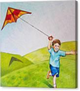 Kite Flying Fun Canvas Print