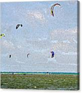 Kites Over The Bay Canvas Print