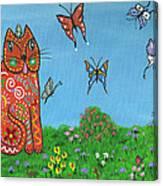 Kittyboy's Butterflies Canvas Print