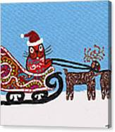 Kityboy Helps Santa Canvas Print