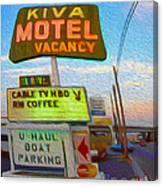 Kiva Motel - Needles Ca Canvas Print