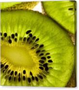 Kiwi Fruit Macro 5 Canvas Print