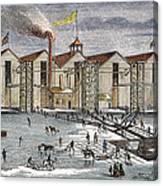 Knickerbocker Ice Co.,  C1846 Canvas Print