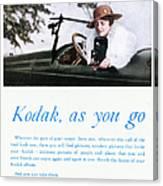 Kodak Advertisement, 1917 Canvas Print
