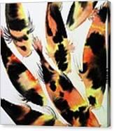 Koi Action Canvas Print