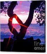 Kona Sunset Hawaii Canvas Print