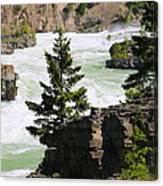 Kootenai Falls In Montana Canvas Print