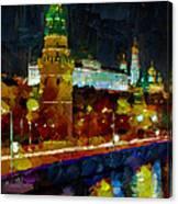 Kremlin Lights Canvas Print