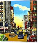 Kress And Woolworth's Stores In Seattle Wa In 1950 Canvas Print