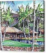 Kukio Estate Canvas Print