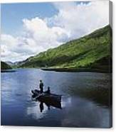 Kylemore Lake, Co Galway, Ireland Canvas Print