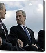 L To R Sec. Of Defense Donald Rumsfeld Canvas Print