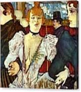 La Goule Arriving At Moulin Rouge Canvas Print