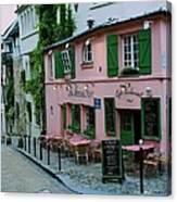 La Maison Rose Canvas Print