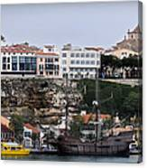 A Galleon At Bottom Of Port Mahon Menorca One Of The Largest Natural Harbours In The World Canvas Print
