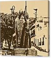 La Rogativa Sculpture Old San Juan Puerto Rico Rustic Canvas Print