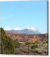 La Sal Mountains Canvas Print