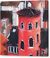 La Tour Rose In Lyon 1 Canvas Print