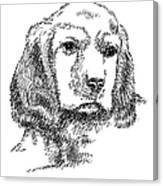 Labrador-portrait-drawing Canvas Print