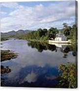 Lackagh River, Creeslough, County Canvas Print