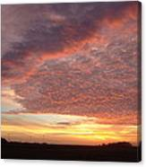 Lacy Pink Sunset Canvas Print