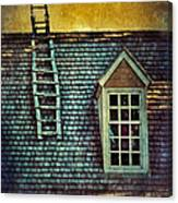 Ladder On Roof Canvas Print