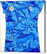 Ladies Gamefish Collage Shirt Canvas Print
