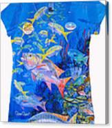Ladies Mutton Snapper Shirt Canvas Print
