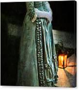 Lady By Lantern Light Canvas Print