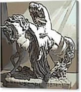 Lady Godiva Statue Canvas Print