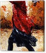 Lady In Red 28 Canvas Print
