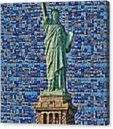 Lady Liberty Mosaic Canvas Print