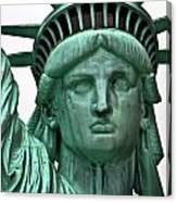 Lady Liberty Up Close Canvas Print