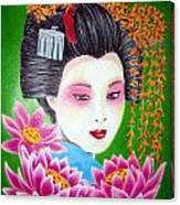 Lady Lotus Canvas Print