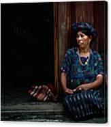Lady Of Antigua Canvas Print