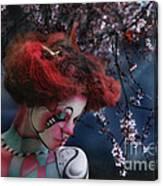 Lady Spring Silence Canvas Print