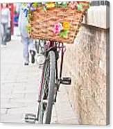 Lady's Bike Canvas Print
