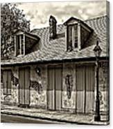 Lafittes Blacksmith Shop Bar In Sepia Canvas Print