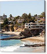 Laguna Beach Waterfront Homes Canvas Print