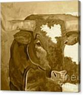 Laid Back Big Boy- Sepia Tone Canvas Print