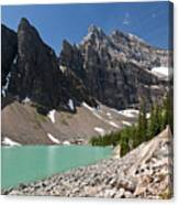 Lake Agnes And Mt Whyte Canvas Print